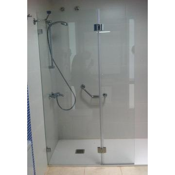 Toughened Clear Etched Shower Screen Glass Panels