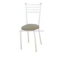 Metallstuhl mit Kissen, Rückenlehne Stuhl Stahlrohr für Zuhause