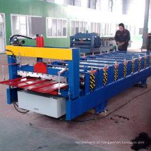 Hebei xn 900 cor de metal telha de aço de alumínio tomada de folha de telhado trapezoidal frio rolo dá forma à máquina