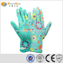 sunnyhope China Manufacturer palm Knit general nitrile nylon coated glovs