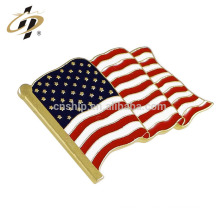 Épinglette de revers de drapeau d'amitié d'émail de drapeau américain de conception faite sur commande