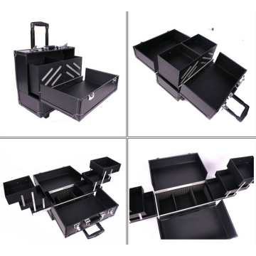 Make up Case Black PVC Beauty Case New (HX-N028)