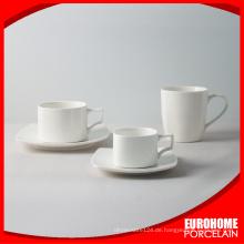 Eurohome Restaurant Verwendung Kaffee Geschirr Teetasse und Untertasse festlegen