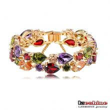 Luxury Colorful Cubic Zirconia Bracelets for Women (CBR0004-C)