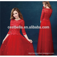 New Design Top Quality China Factory Elegant lady Red evening dress