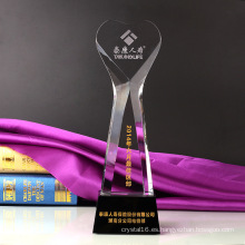 Logotipo de Crystal World Cup Trophy Craft Sandblasting con base
