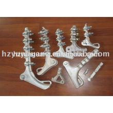 braçadeira de cabo braçadeira de tensão clipe de fio de linha aérea de alumínio de hardware de hardware