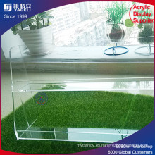 Caja de esmalte acrílico transparente superior