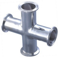 "ANSI316 1.5"" Food Grade Pipe Connector Stainless Steel Clamp Cross"