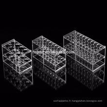 Support pour tubes à essai en acrylique de 8 puits pour tube à essai de 100 ml
