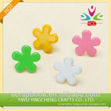 2016 fashion christmas alibaba china supplier product colourful flower brads for scarpbooking
