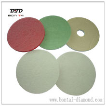 17'' professional diamond fiber dry polishing pads