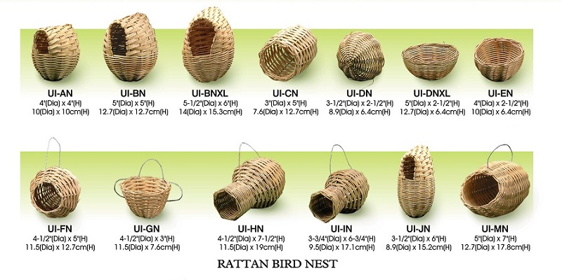 Natural Rattan bird nest