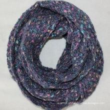 Outono estilo novo malha lenço de infinidade