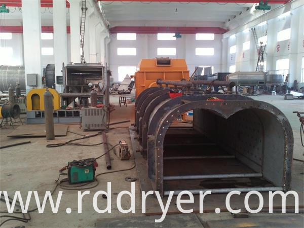 Horizontal Large Chemical Vacuum Harrow Drying Machine