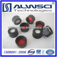 Cloisonnette en silicone blanc rouge 13mm avec vis noir Vis ouvert capuchon assemblé