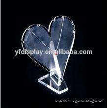 Affichage acrylique clair de bijoux