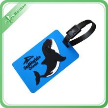 Etiquetas suaves al por mayor del equipaje del PVC del regalo promocional del diseño de la moda