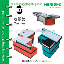 checkout counter stand, checkout counter supplier,checkout counter with conveyor belt