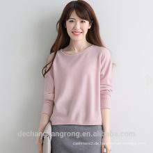 Großhandel Anti-Falten-rosa Kaschmir-Pullover