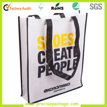 New Style Printed Long Handle Promotional Non Woven Fabric Bag