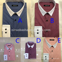 Exquisite Men's Business Casual Stripe Shirt 2014 Latest Men's Matched Collar And Cuff Shirts With Single Breasted Design NB0585