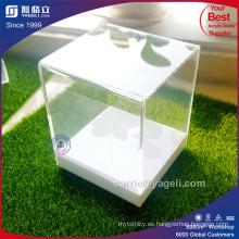 2017 Exqusite Clear & White Caja de acrílico