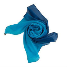 Gradient color real silk scarf