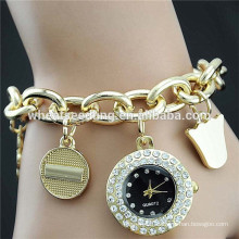 Newest personality alloy ladies bracelet new watch