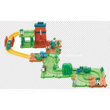 Los trenes fijan el juguete de los bloques con el mejor material