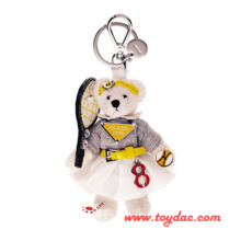 Plush Clothes Bear Key Ring