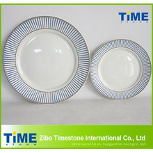 Plato de cena de cerámica estilo real