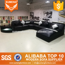 2017 latest luxury real picture u shaped sectional sofa set design from factory