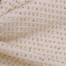 Tissu tricoté Spandex Jacquard fil blanc respirant