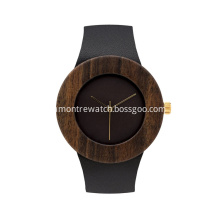 Wood Watch Gift Box Set with Leather Strap