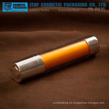 ZB-RD15 superficie lisa transparente de 15ml redondo giratorio plástico botella privada de aire para la loción