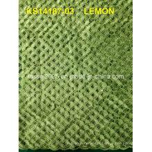 Tecido bonito do laço do cordão do bordado Ks14187