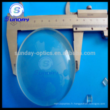 100mm 150mm diamètre Grand Plano convexe lentille verre optique