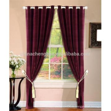 China proveedor terciopelo rojo llevó escenario cortina pantalla cortina de ojal