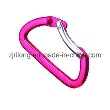 D Form Aluminiumlegierung Springcarabiner Hakenclip Dr-Z0084