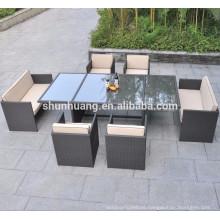PE rattan outdoor furniture dining sets wicker handmade chair