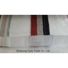 Nouveau tissu de rideau transparent Organza VoIP à rayures de projet populaire 0082130