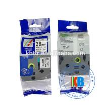 Cheap price shrink label tube printing  tz231 black on white printer label tape cassette