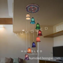 super luxury eight color five star hotel decorative pendant lamp