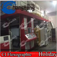 Máquina de impresión Flexo de Serviette / 8 colores Centrtal Máquina de impresión de Flexo Drum