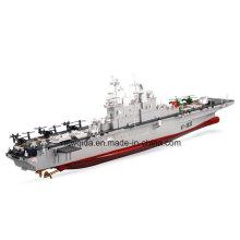 2.4 GHz Plástico 1/350 Escala Anfíbio Assalto Frigate Toy RC Boat