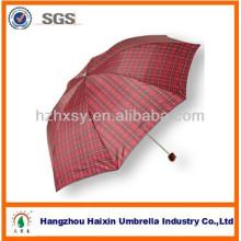 Cheap Folding Check Rain Umbrella For Sale