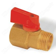 Brass mini ball valve chrome plated