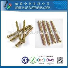 Easy Drive M7.5 mit 5 Locking Ribs Deep High Low Thread Selbstbohren Zink Gelb Plated Flat Senkung Beton Schrauben