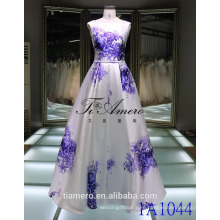 Plian крашеные створки синий и белый фарфор элегантный лента атласная Пром платье вечернее платье свадебное платье